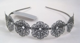 New Metal Headband With Ornate Flowers & Crystals Nwt From Target #H0108 - €3,80 EUR