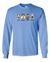 250 8 Bit Horror Villain Long Sleeve Shirt 80s gamer scary halloween nightmare - $18.00+