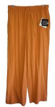 SAG HARBOR Raw Silk Orange Elastic Waist Cropped Capri Pants - Size Smal... - $9.89