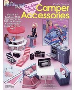 Dream Camper & Accessories for Barbie - Both Plastic Canvas Pattern Book... - $35.97
