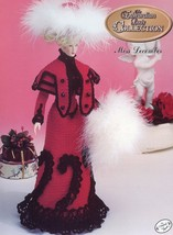 Miss December 1996 Edwardian Outfit for Barbie Doll Annie's Crochet Pattern - $3.57