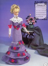 Miss February 1996 Edwardian Lady Outfit For Barbie Doll Annie's Crochet Pattern - $3.57