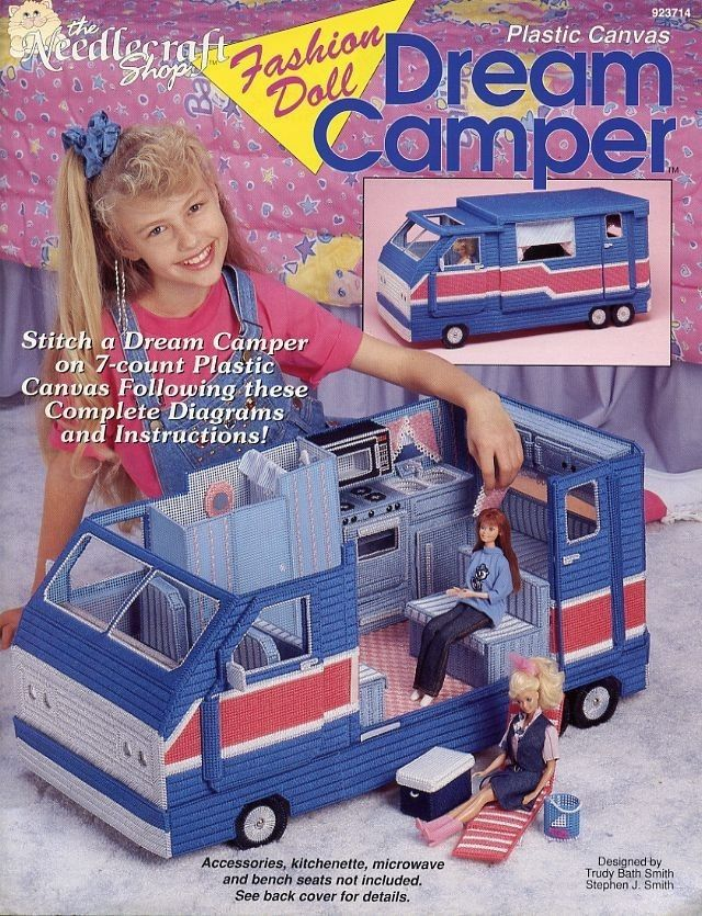 Dream Camper & Accessories for Barbie - Both Plastic Canvas Pattern Booklets