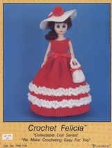 "15"" Felicia Doll Outfit Td Creations Crochet Pattern/Instructions Leaflet - $2.67"