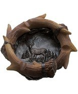 Decorative Deer Antler Ashtray - Cabin Decor - Wildlife Animal Hunting O... - $29.18 CAD