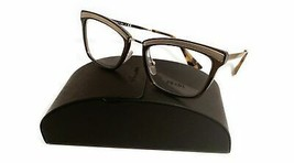 Prada Women's Brown Gold Glasses with case VPR 15U KJM-1O1 50mm - $185.99