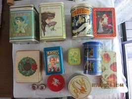 collectible tin canisters - $29.69