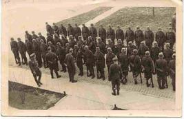 German Gestapo Platoon Inspection World War 2 vintage Real Photo Post Card   - $250.00