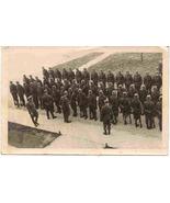 German Gestapo Platoon Inspection World War 2 vintage Real Photo Post Ca... - $250.00