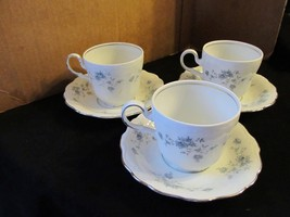 "Johann Haviland's Traditions ""Blue Garland"" Set of 3 Cups & Saucers - $28.04"