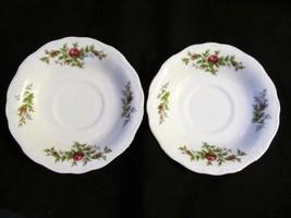 "Johann Haviland's Traditions ""Moss Rose"" Set of 2 Saucers - $14.95"
