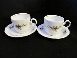 "Johann Haviland's Traditions ""Moss Rose"" Set of 2 Cups & Saucers - $21.49"