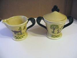 "Vintage Metlox Poppytrail Vernon "" Homestead Provincial "" Creamer & Suga... - $33.65"