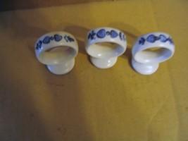 "Vintage Pfaltzgraff Pottery"" Yorktowne"" Set of 3 Napkin Rings - $14.95"