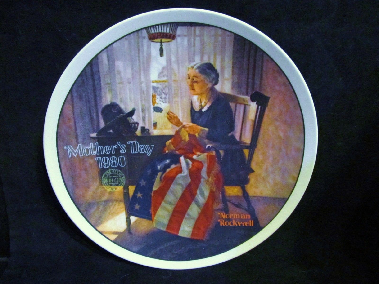 "Norman Rockwell's ' A Mothers Pride 1980"" 5th  Limited Edition Collector Plate"