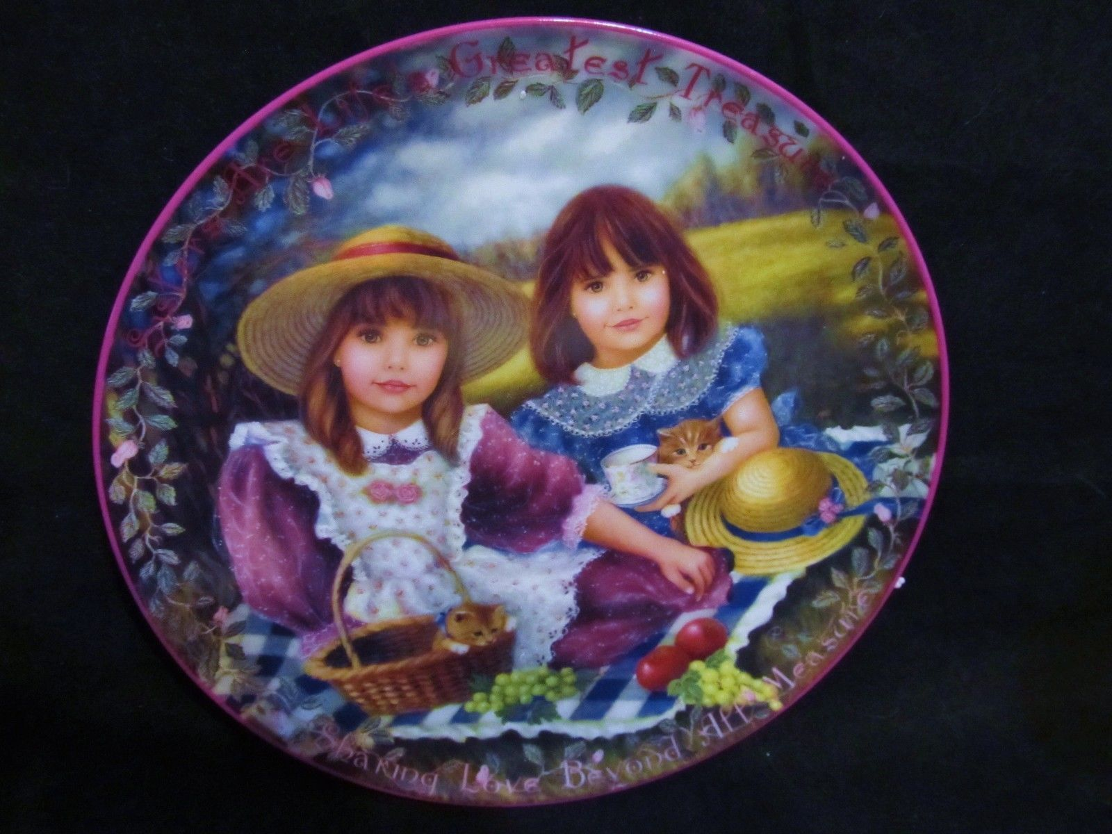 """Chantal Poulin's """" Life's Greatest Treasure"""" in The Kindred Moments Series Plate"""