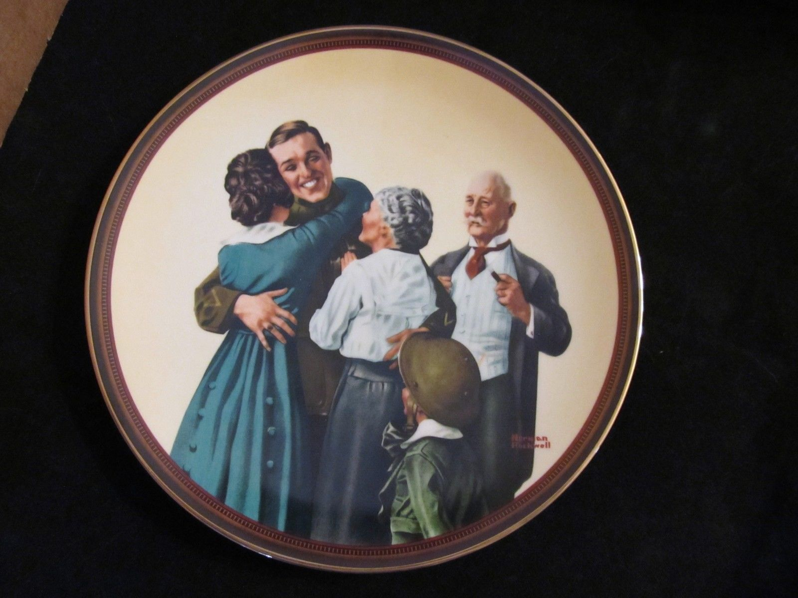 "Norman Rockwell's""The Homecoming"" in (The Ones We Love Series) Coll. Plate"
