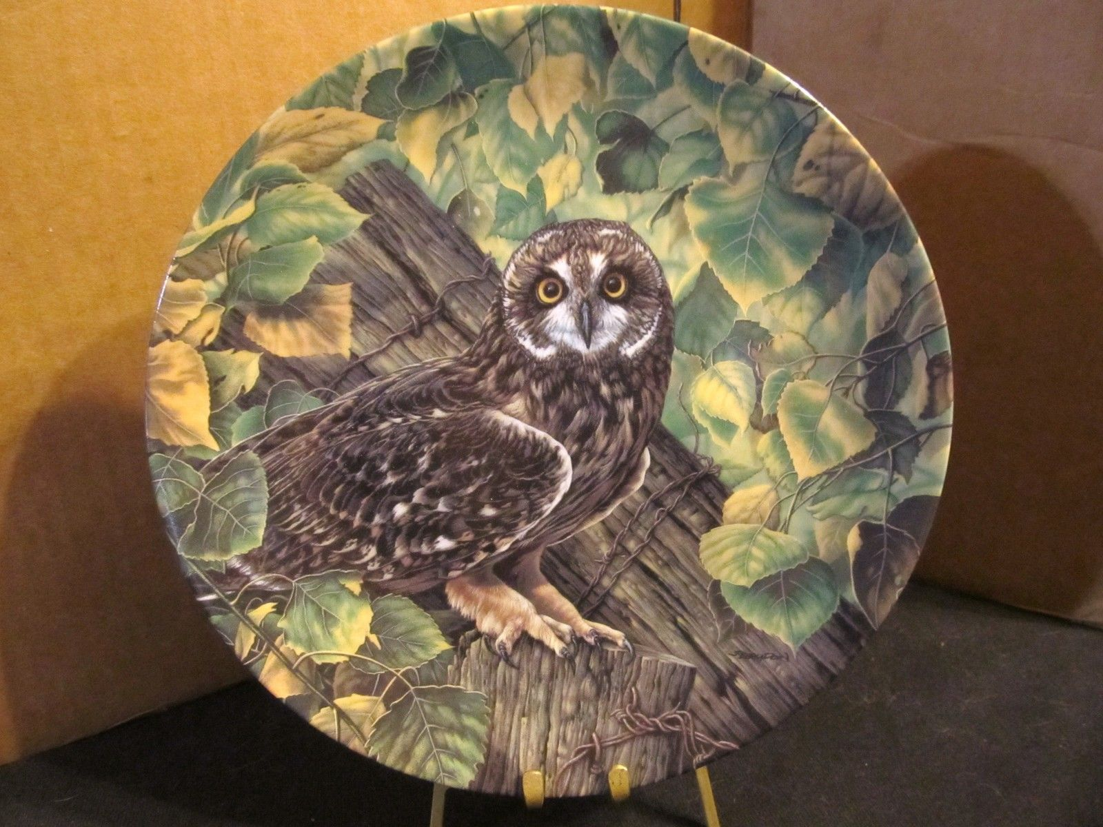 "Jim Beaudoin's The Stately Owl Collection ""The Short-Eared Owl "" Coll. Plate"