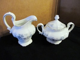 "Johann Haviland's Traditions ""Blue Garland"" Creamer & Sugar with Cover  - $28.04"