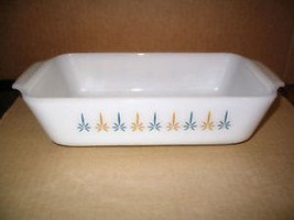 "Vintage. Fire King Milk Glass ""Candleglow"" 1 Q tBread Pan - $28.97"