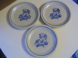 "Vintage  Pfaltzgraff Pottery"" Yorktowne"" Trio of Salad Plates - $26.17"