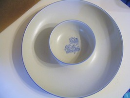 "Vintage  Pfaltzgraff Pottery"" Yorktowne"" Chip and Dip Tray with Bowl - $37.39"