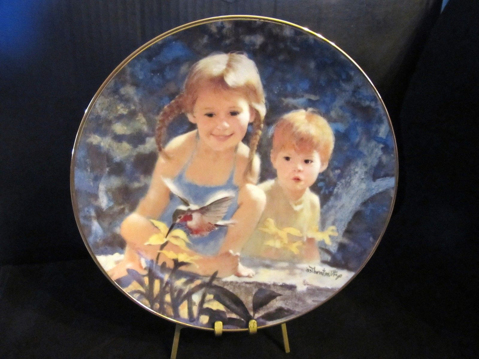 "Thorton Utz's The Days of Childhood ""Garden Magic"" Collector Plate"
