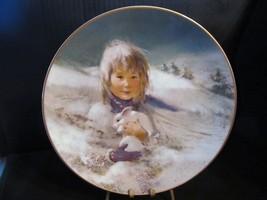 """Thorton Utz's Precious Moments """" Snow Bunny """" Collector Plate - $18.69"""