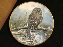 "John Seerey Lester's Noble Owls of America ""Autumn Mist"" Collector Plate - $23.36"
