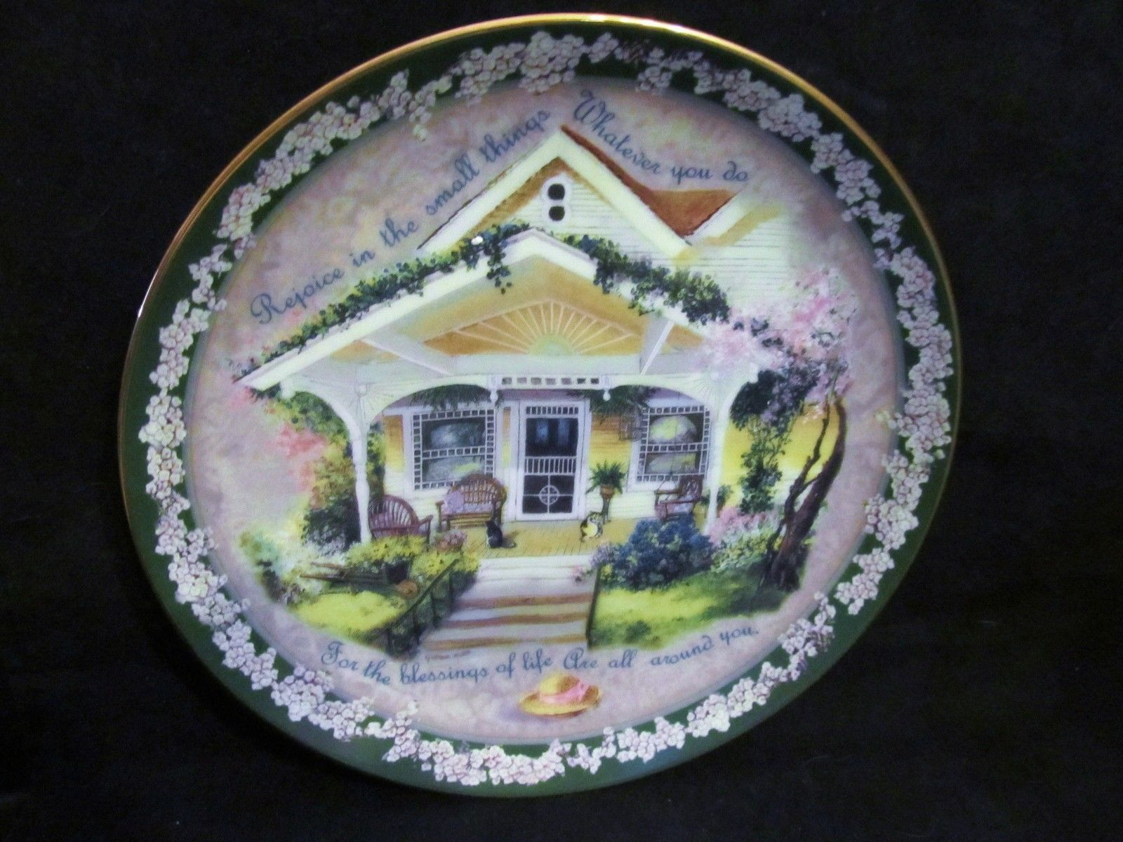 "Glenna Kurz's "" Rejoice In The Small Things""  in the Welcome Home Series Plate"