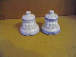 "Vintage Pfaltzgraff Pottery"" Yorktowne,1776 Liberty Bell "" Salt & Pepper... - $19.62"