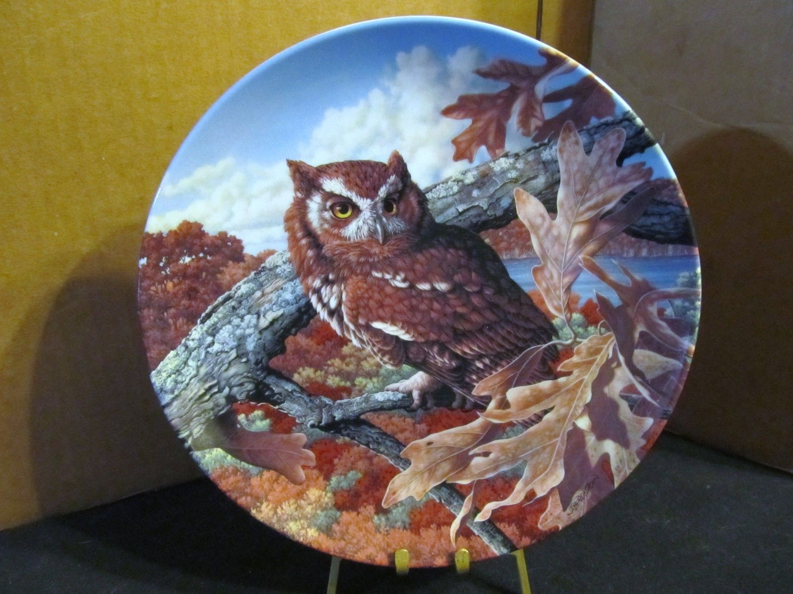 "Jim Beaudoin's The Stately Owl Collection ""The Eastern Screech Owl "" Coll. Plate"