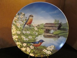 "Sam Timm's Birds of the Seasons "" Bluebirds in Spring "" Collector Plate - $22.43"