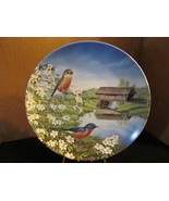 """Sam Timm's Birds of the Seasons """" Bluebirds in Spring """" Collector Plate - $22.43"""