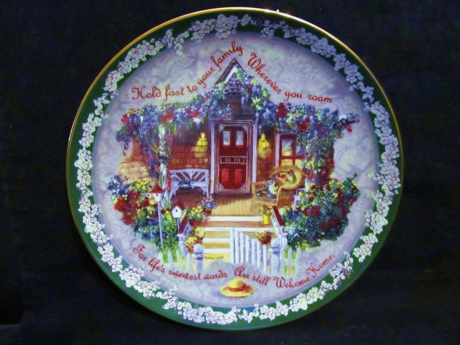 "Glenna Kurz's "" Hold Fast to your Family""  in the Welcome Home Series Plate"