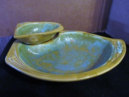 """Maurice of Calif. USA Pottery """"1414"""" Retro Chip & Dip Tray - $46.74"""