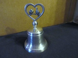 """Crown & Roses 12 Days of Christmas Pewter Bell """" Two Turtle Doves """" - $37.39"""
