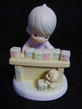 """Precious Moments """"I Can't Spell Success Without You( 523763)"""" 1990 Figurine - $30.84"""
