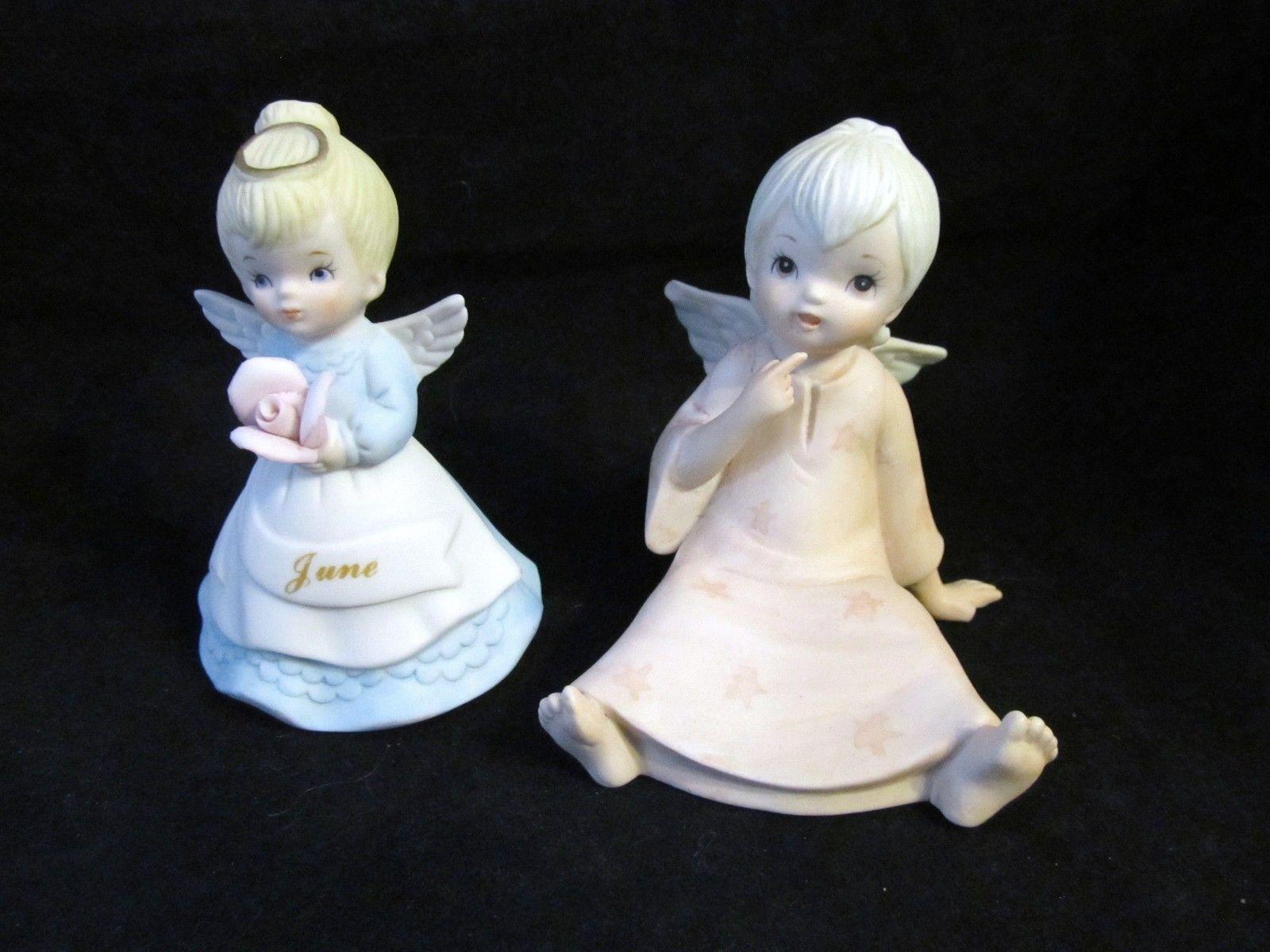 Vtg Lefton, Christopher Collection 03711 -Resting Angel & June girl Angel  - $21.49