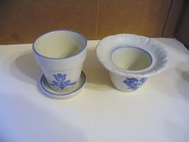 """Vtg.  Pfaltzgraff Pottery"""" Yorktowne"""" Planters - $33.65"""