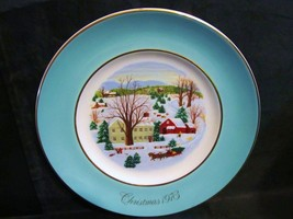 "Avon 1973 ""Christmas on The Farm"" Collector Plate  - $18.68"