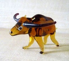 Vintage Murano Art Glass Animal Buffalo - $17.95