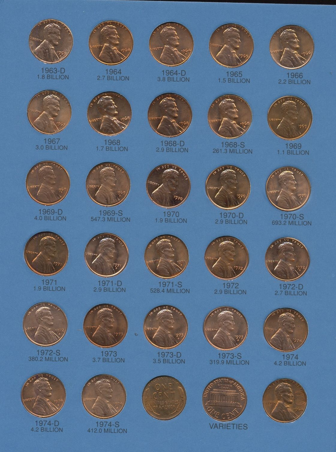 Lincoln Cent Complete Collection 1941 - 1974 and 14 similar items