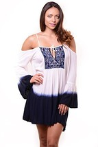 Iconoflash Women's Ombre Off The Shoulder Tunic Dress, Size L/Xl - $39.59