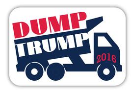 Dump Trump 2016 Political 3.5x5 Anti Trump Magnet Decal Car - $5.99