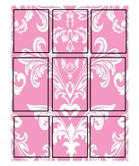 Pink Damask Floral Tags-ClipArt-Digital ArtClip - $3.00