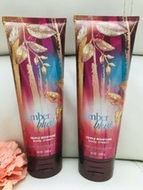 2x New Bath Body Works Womens Amber Blush Triple  Moisture Body Cream Fu... - $39.50