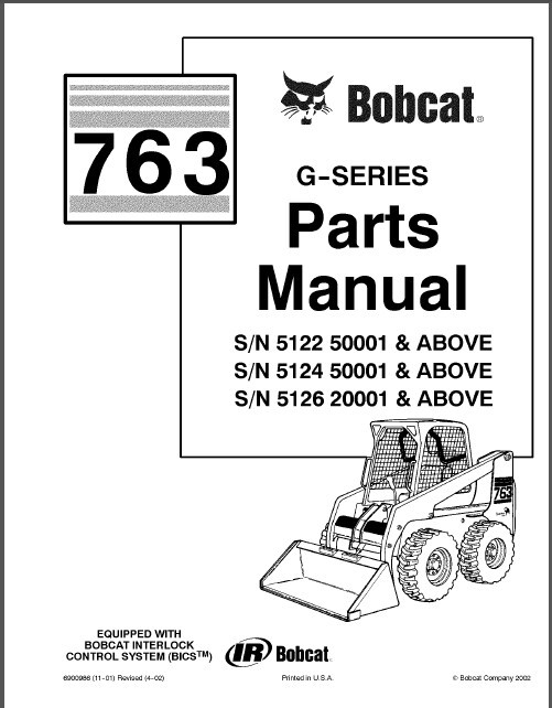 Bobcat 763 Skid Steer Loader Parts Manual Cd And 50 Similar Items