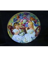 """Sandra Kuck's """" The Tea Party"""" in The Hearts and Flowers Series Plate - $23.36"""