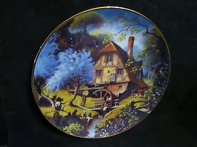 "Robert Hersey's "" The Old Mill"" in The Story of a Country Village Series Plate"